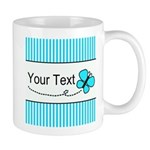 Personalizable Teal Butterfly Mugs