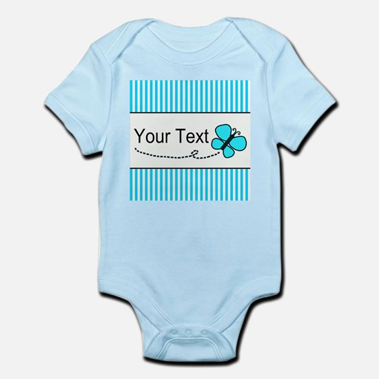 Personalizable Teal Butterfly Body Suit
