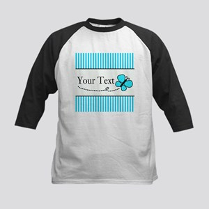 Personalizable Teal Butterfly Baseball Jersey