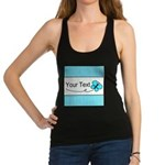 Personalizable Teal Butterfly Tank Top