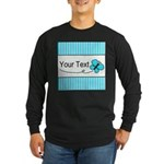 Personalizable Teal Butterfly Long Sleeve T-Shirt