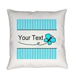 Personalizable Teal Butterfly Everyday Pillow