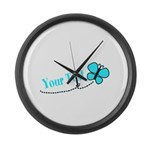 Personalizable Teal and Black Butterfly Large Wall
