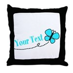 Personalizable Teal and Black Butterfly Throw Pill
