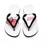 Personalizable Pink Butterfly Flip Flops