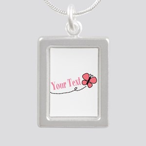 Personalizable Pink Butterfly Necklaces