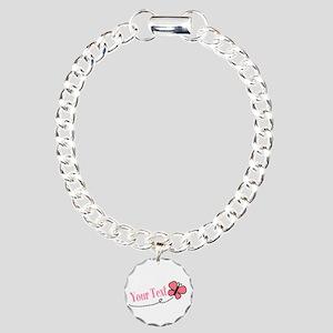 Personalizable Pink Butterfly Bracelet