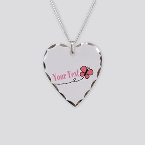 Personalizable Pink Butterfly Necklace