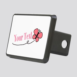 Personalizable Pink Butterfly Hitch Cover