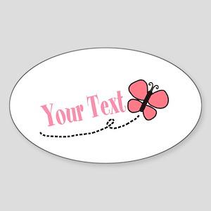 Personalizable Pink Butterfly Sticker
