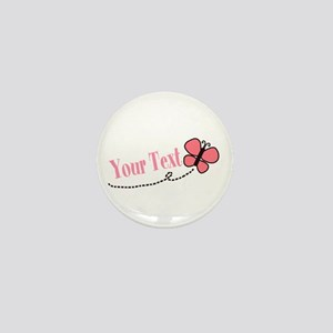 Personalizable Pink Butterfly Mini Button