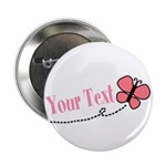 Personalizable Pink Butterfly 2.25