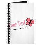 Personalizable Pink Butterfly Journal
