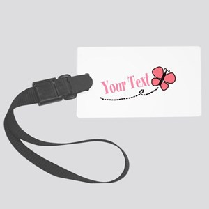 Personalizable Pink Butterfly Luggage Tag