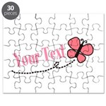 Personalizable Pink Butterfly Puzzle