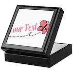 Personalizable Pink Butterfly Keepsake Box