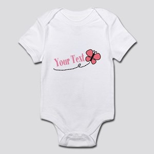 Personalizable Pink Butterfly Body Suit