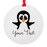 Personalizable Penguin Ornament