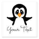 Personalizable Penguin Square Car Magnet 3