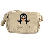 Personalizable Penguin Messenger Bag