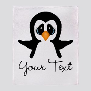 Personalizable Penguin Throw Blanket