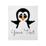 Personalizable Penguin Throw Blanket
