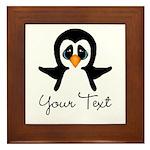 Personalizable Penguin Framed Tile