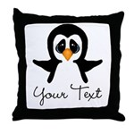 Personalizable Penguin Throw Pillow