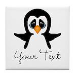 Personalizable Penguin Tile Coaster