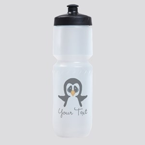 Personalizable Penguin Sports Bottle