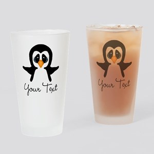 Personalizable Penguin Drinking Glass