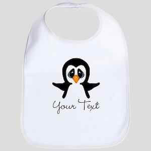 Personalizable Penguin Baby Bib