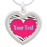 Personalizable Pink Zebra Necklaces
