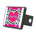 Personalizable Pink Zebra Hitch Cover