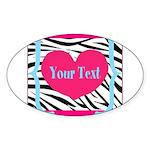 Personalizable Pink Zebra Sticker