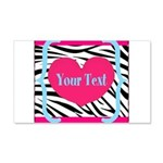 Personalizable Pink Zebra Wall Decal