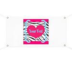 Personalizable Pink Zebra Banner