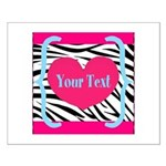 Personalizable Pink Zebra Posters