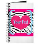 Personalizable Pink Zebra Journal