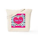 Personalizable Pink Zebra Tote Bag