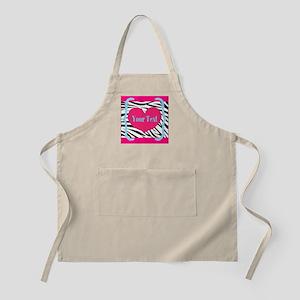 Personalizable Pink Zebra Apron