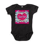 Personalizable Pink Zebra Body Suit