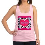 Personalizable Pink Zebra Tank Top