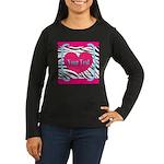 Personalizable Pink Zebra Long Sleeve T-Shirt