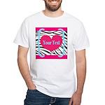 Personalizable Pink Zebra T-Shirt
