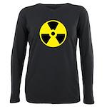 Danger Radioactive Plus Size Long Sleeve Tee