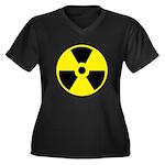 Danger Radio Women's Plus Size V-Neck Dark T-Shirt