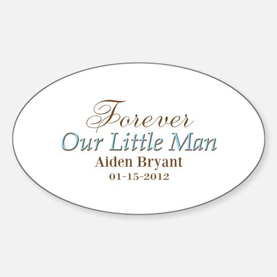 Blue Brown Personalizable Little Man Decal