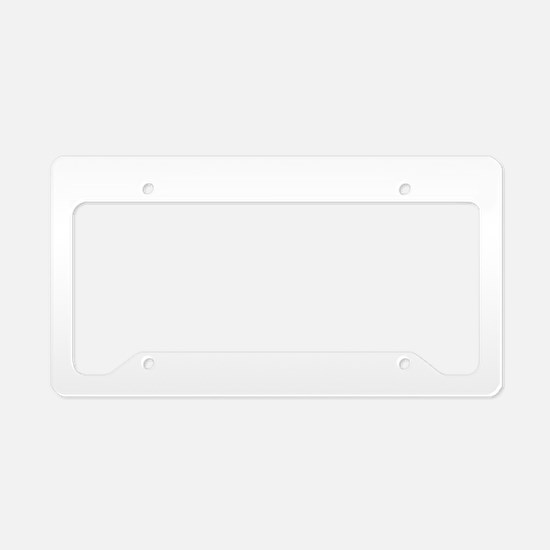 Personalizable Family Black Red License Plate Hold