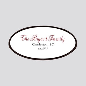 Personalizable Family Black Red Patch